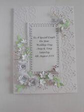 Personalised Handmade Luxury Birthday/Silver Anniversary/Wedding Day Card Boxed