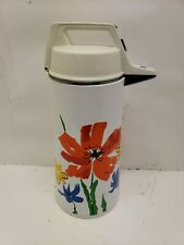 Vintage Everest Vacuum Air Pot Thermos Floral 1970s, Coffee Hot Water