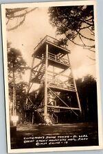 RPPC 1939 Clingman's Dome Tower Elv. 6682 Smoky Mountains Nat'l Park Postcard D1