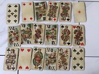 ANTIQUE 1800-1900 TAROT FERD. PIATNIK & SON, WIEN 54 PLAYING CARDS