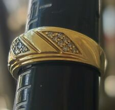10k Gold Mens Ring With Diamonds 7.1 Grams size 12