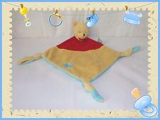 G - Doudou Semi Plat Winnie Jaune Rouge Bleu Fleur Disney Simba Dickie Nicotoy