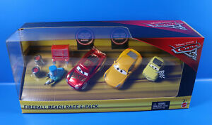 Disney Cars FCL78 Fireball Beach Race 4-Pack  Geschenk-Set