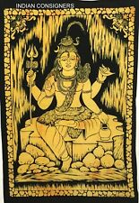 Hippie Indian Poster Tapestry Wall Hanging Lord Shiv Hindu God Shiva Door Cotton