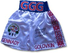 Gennady Golovkin Signed Autograph Boxing Trunks White WBC Champ Full Sig GGG JSA