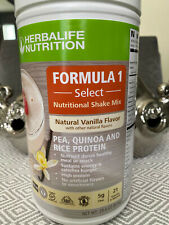 HERBALIFE FORMULA 1 SELECT - NUTRITIONAL SHAKE MIX -NATURAL VANILLA FLAVOR 810g