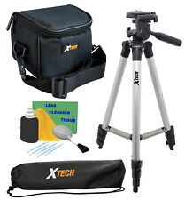 "New Professional 50"" Tripod with Deluxe Camera Case For Sony Camcorders + Kit"