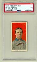 1909 T206 Frank Chance Chicago Cubs HOF PSA 1 New Grade
