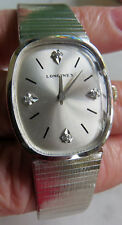 VINTAGE Longines 10k R.G.P 50's or 60's Watch and Band - Diamonds Runs Great!