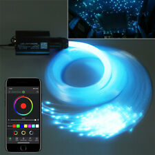 DIY 12V RGB Star Sky Car LED Ceiling Light Kit 300PCS 2M Fiber Optic APP Control