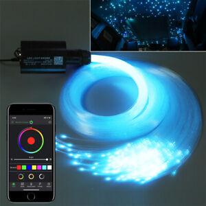DIY 12V RGB Star Sky Car LED Ceiling Light Kit 300PCS 2M Fiber Optic APP Control
