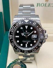 Rolex GMT Master II 116710LN Black Ceramic Bezel BOX AND PAPERWORK 2016