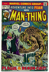 ADVENTURE INTO FEAR#14 FN/VF 1973 MAN-THING MARVEL BRONZE AGE COMICS