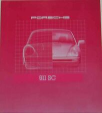 Porsche 911 SC 3.0 Coupe & Targa 1980 Original USA Sales Brochure W73-710-6012