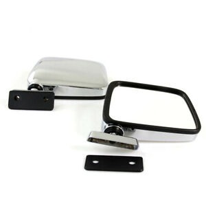 FIT FOR 60-86 DATSUN NISSAN 720 PICKUP TRUCK DOOR MIRRORS LEFT RIGHT CHROME PAIR