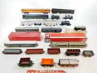 CH668-3# 22x H0/DC Bastler-Wagen: Fleischmann+Trix+Rivarossi+Jouef etc; defekt