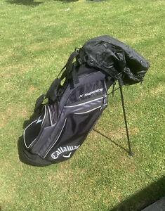 Callaway Golf X Series Stand Bag With Rain Cover Black/White/Titanium.