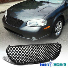 For 2002-2003 Maxima Mesh Hood Grill Honeycomb Style Grille Shinny Black