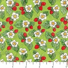 STRAWBERRY PATCH STRAWBERRIES FABRIC