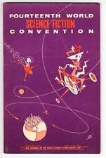 1956 program book THE 14th WORLD SCIENCE FICTION CONVENTION - Robert Bloch essay