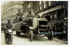 c1930 Native American Indians Thornycroft Lorry Granby Street Leicester Postcard