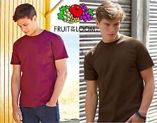 Stock 5 PEZZI T-Shirt FRUIT OF THE LOOM SUPER PREMIUM Maglietta Maniche Corte #