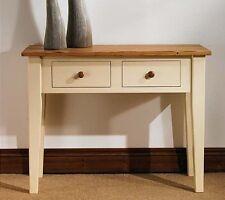 Hampton cream painted pine furniture console hall table