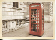 Post Card Of English Telephone Booth From When People Needed Public Phones