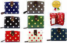 New Quality Oilcloth Floral Spotty polka dot women's short zip hand purse wallet