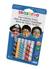 Snazaroo Face Paints Boys Painting Party Sticks Halloween Fancy