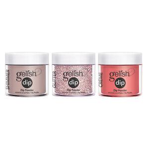 Gelish Soak Off Acrylic Powder Nail Polish Dip Manicure Set with 3 Dip Colors
