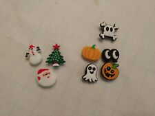 Shoe Charms Buttons Pins Holiday Set of 8 new Compatible with Croc Shoes