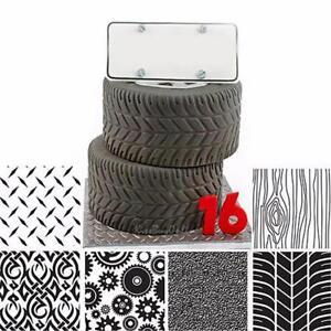 6pcs Plastic Fondant Cookie Cake Sugar Craft DIY Mat Texture Tyre Decor Mold Set