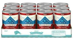 Blue Buffalo Homestyle Recipe Natural Adult Wet Dog Food, Beef 12.5-Oz Can (Pack