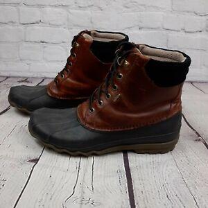 Sperry Avenue Duck STS10548 Rain Boots Shoes. Men's Size 9.5 M. Brown