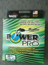 Spectra Power Pro 20 Lb 500 Yd Moss Green Braided Fishing Line