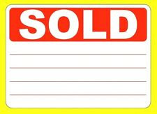 SOLD Stickers / Tags / Sticky Labels - Removable Adhesive - 5 Sizes