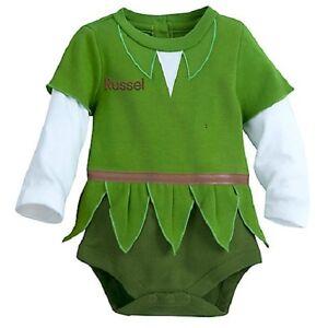 PETER PAN~Baby~BODYSUIT with CAP~COSTUME~Cotton~Infant~0-24M~Disney Store-2017