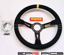 Momo Mod 08 Series Suede Deep Dish Steering Wheel 350mm - Genuine Item