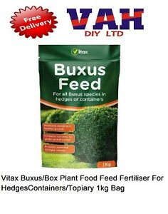 Vitax Buxus/Box Plant Food Feed Fertiliser For HedgesContainers/Topiary 1kg Bag