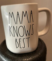 Rae Dunn - MAMA KNOWS BEST - LL White Ceramic Coffee Mug