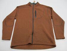 COLUMBIA #J1061 Men's Size XXL Hiking TITANIUM Full Zip Brown Fleece jacket