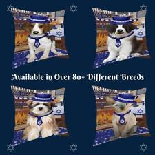 Happy Hanukkah Dog Cat Pet Photo Lovers Throw Decorative Travel Pillow