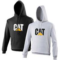 CAT Hoodie Bulldozer Digger Enthusiast VARIOUS SIZES & COLOURS