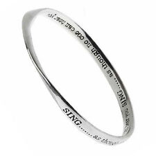 Poetry inscribed bangle SING...as though no one can hear you
