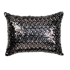 Logan & Mason Tivoli Black Sequin Filled Brunch Cushion 30 X 40cm Ultima