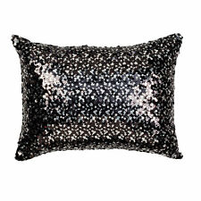 Tivoli Black Sequin Filled Brunch Cushion 30cm x 40cm - Ultima Collection