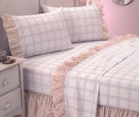 225TC  Madeline Printed Sheet Set or Ruffled Valance - SINGLE DOUBLE QUEEN KING