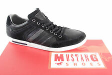 Mustang Men's Lace Up Sneakers Low Shoes Black New