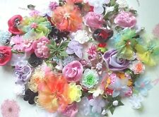 40pcs Ogranze Satin Ribbon Flower Bow Butterfly Appliques Craft Assorted
